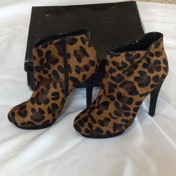 asos leopard booties